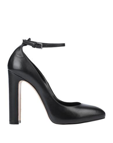 Ninalilou | Черный Женские черные туфли NINALILOU кожа наппа | Clouty