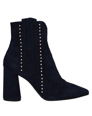 Elvio Zanon | Темно-синий Женские темно-синие полусапоги и высокие ботинки ELVIO ZANON замшевая ткань | Clouty