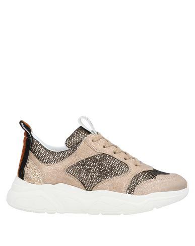 Stokton | Бежевый Женские бежевые низкие кеды и кроссовки STOKTON техническая ткань | Clouty