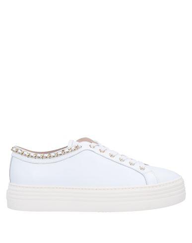 Stokton | Белый Женские белые низкие кеды и кроссовки STOKTON аппликации из металла | Clouty