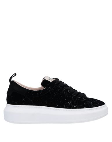 Stokton | Черный Женские черные низкие кеды и кроссовки STOKTON замшевая ткань | Clouty