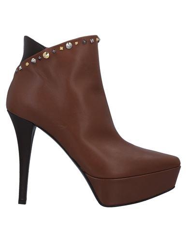 Ninalilou | Коричневый Женские коричневые полусапоги и высокие ботинки NINALILOU заклепки | Clouty