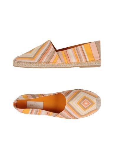 Valentino Garavani | Оранжевый Женские оранжевые эспадрильи VALENTINO GARAVANI плотная ткань | Clouty