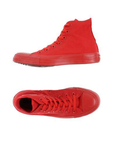 CONVERSE   Красный Женские красные высокие кеды и кроссовки CONVERSE ALL STAR парусина   Clouty
