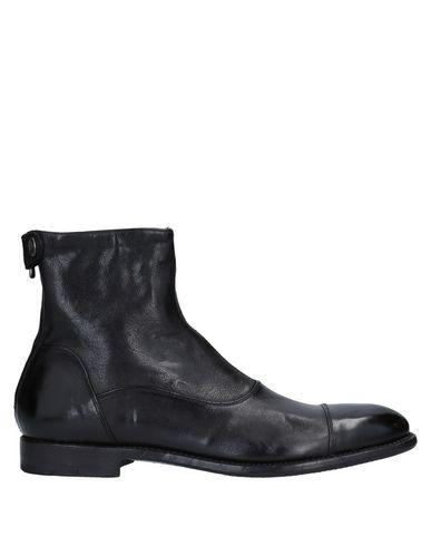 Alberto Fasciani | Черный Мужские черные полусапоги и высокие ботинки ALBERTO FASCIANI без аппликаций | Clouty