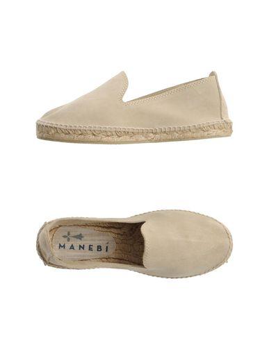 Manebi | Бежевый Женские бежевые эспадрильи MANEBI замшевая ткань | Clouty