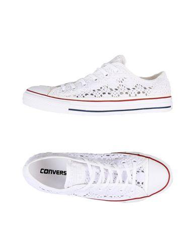 CONVERSE | Белый Женские белые низкие кеды и кроссовки CONVERSE ALL STAR логотип | Clouty