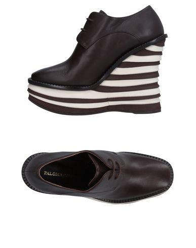 Paloma Barceló   Темно-коричневый Женская темно-коричневая обувь на шнурках PALOMA BARCELO наппа   Clouty
