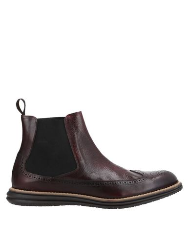 Scíccò | Красно-коричневый Мужские полусапоги и высокие ботинки SCICCO текстурированная кожа | Clouty