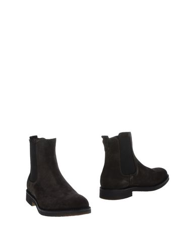 CAFèNOIR | Свинцово-серый Мужские полусапоги и высокие ботинки CAFeNOIR замшевая ткань | Clouty