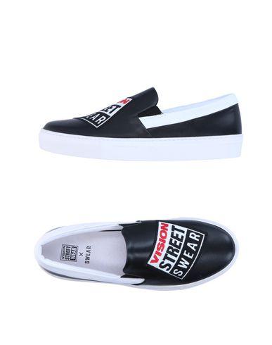 Vision Street Wear X Swear | Черный Мужские черные низкие кеды и кроссовки VISION STREET WEAR x SWEAR логотип | Clouty