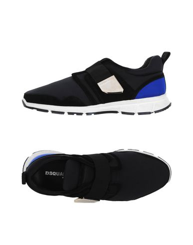 DSQUARED2   Черный Мужские черные низкие кеды и кроссовки DSQUARED2 джерси   Clouty