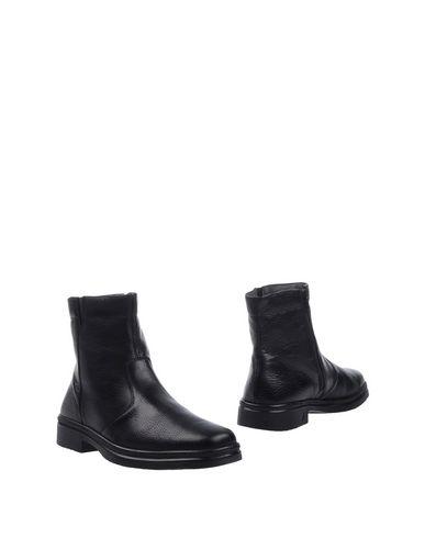 Melluso | Черный Мужские черные полусапоги и высокие ботинки MELLUSO текстурированная кожа | Clouty
