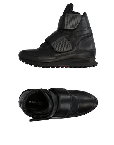DSQUARED2 | Черный Мужские черные высокие кеды и кроссовки DSQUARED2 Неопрен | Clouty