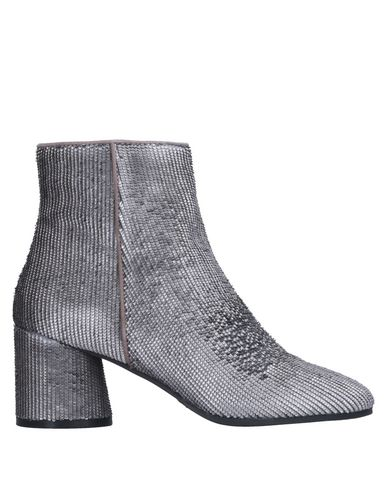 Elvio Zanon | Свинцово-серый Женские полусапоги и высокие ботинки ELVIO ZANON без аппликаций | Clouty