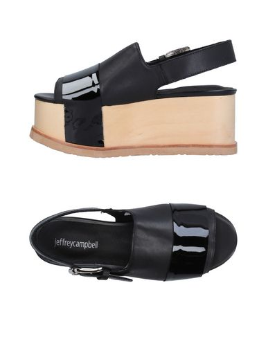 JEFFREY CAMPBELL | Черный Женские черные сандалии JEFFREY CAMPBELL кожа | Clouty