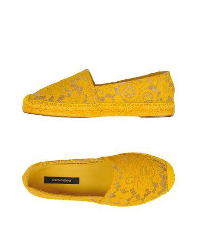 Dolce & Gabbana | Желтый; Светло-серый; Черный; Коралловый; Синий; Небесно-голубой Женские желтые эспадрильи DOLCE & GABBANA техническая ткань | Clouty