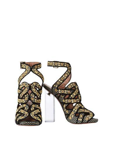 ALAÏA   Черный Черные сандалии ALAIA замшевая ткань   Clouty
