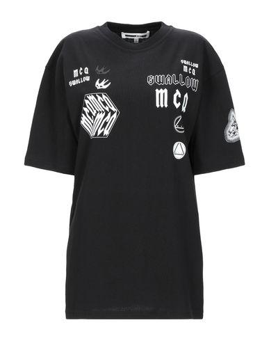 McQ Alexander Mcqueen   Черный Женская черная футболка McQ Alexander McQueen джерси   Clouty