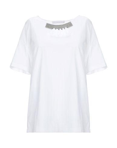 Fabiana Filippi | Белый; Зеленый-милитари Женская белая футболка FABIANA FILIPPI джерси | Clouty
