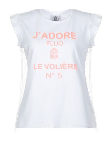LE VOLIERE | Белый Женская белая футболка LE VOLIERE тюль | Clouty