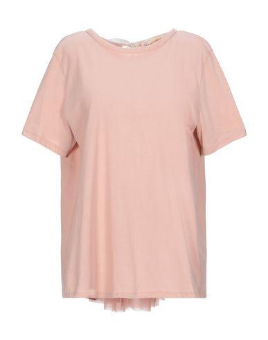 Semicouture   Розовый Женская розовая футболка SEMICOUTURE тюль   Clouty