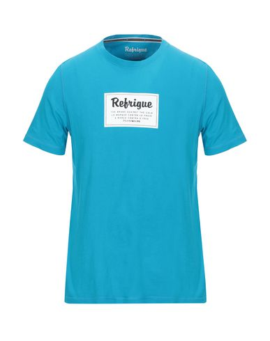 Refrigue | Лазурный Мужская лазурная футболка REFRIGUE джерси | Clouty