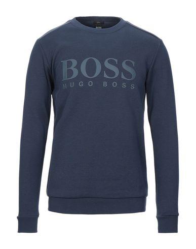 BOSS   Темно-синий Мужская темно-синяя толстовка BOSS HUGO BOSS контрастные аппликации   Clouty