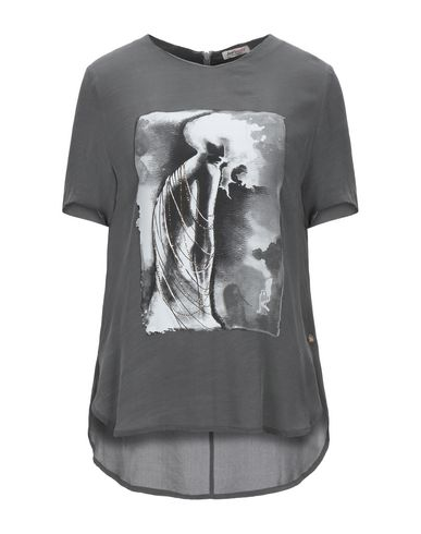 Roy Roger's | Свинцово-серый Женская футболка ROY ROGER'S креп | Clouty