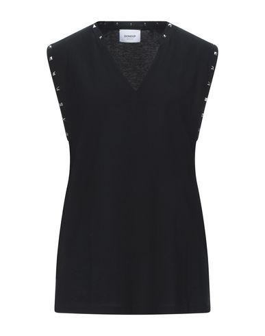 Dondup | Черный; Белый Женская черная футболка DONDUP джерси | Clouty