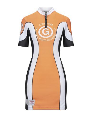 GCDS | Оранжевый; Черный Оранжевое короткое платье GCDS джерси | Clouty