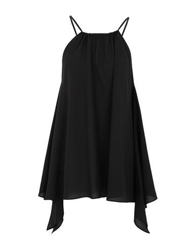 DKNY | Женский черный топ без рукавов DKNY креп | Clouty