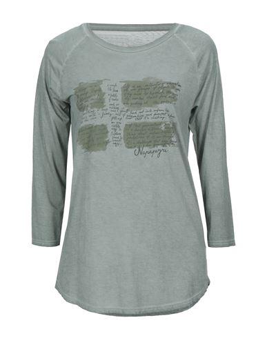 Napapijri | Зеленый-милитари Женская футболка NAPAPIJRI джерси | Clouty