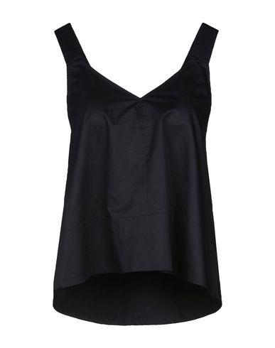 TIBI | Женский темно-синий топ без рукавов TIBI Плотная ткань | Clouty