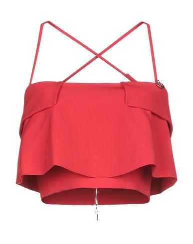 Mangano | Женский красный топ без рукавов MANGANO креп | Clouty
