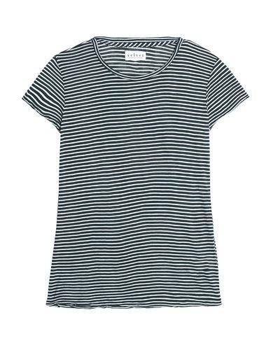 Velvet By Graham & Spencer | Грифельно-синий Женская футболка VELVET by GRAHAM & SPENCER джерси | Clouty