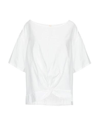 Empathie | Белый Женская белая блузка EMPATHIE плотная ткань | Clouty