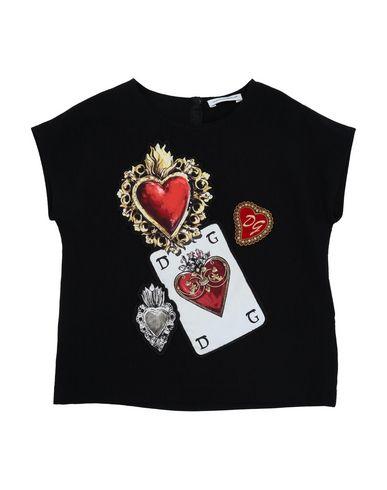 Dolce & Gabbana | Черный Детская черная блузка DOLCE & GABBANA нельзя стирать | Clouty