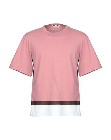 Marni   Пастельно-розовый Мужская футболка MARNI плотная ткань   Clouty
