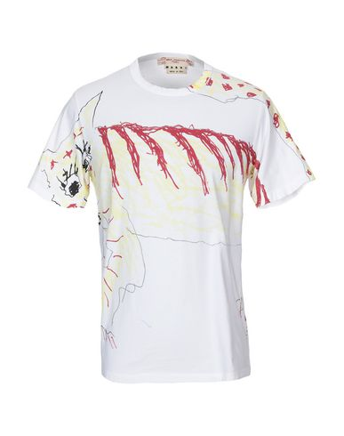 Marni | Белый Мужская белая футболка MARNI джерси | Clouty
