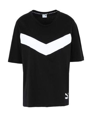 Puma   Черный Женская черная футболка PUMA XTG Colorblock Tee джерси   Clouty