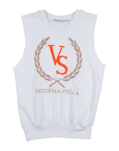 Victoria & Stella | Белый Детская белая толстовка VICTORIA & STELLA логотип | Clouty