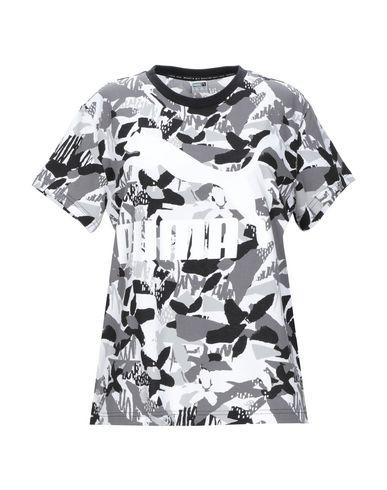 Puma | Серый Женская серая футболка PUMA джерси | Clouty