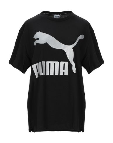 Puma | Черный Женская черная футболка PUMA джерси | Clouty