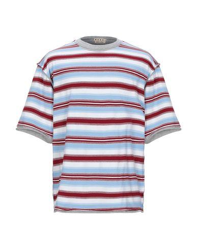 Marni   Небесно-голубой Мужская футболка MARNI джерси   Clouty