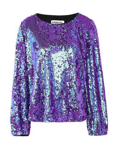Essentiel Antwerp | Фиолетовый Женская фиолетовая блузка ESSENTIEL ANTWERP тюль | Clouty