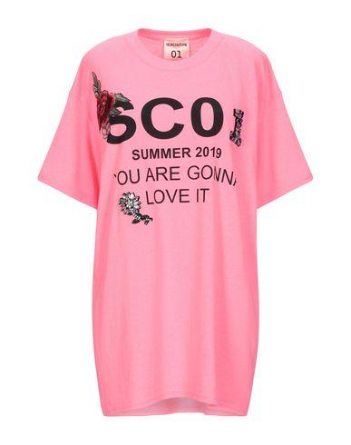 Semicouture | Фуксия Женская футболка SEMICOUTURE джерси | Clouty
