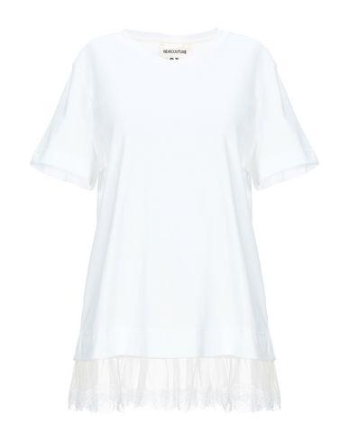 Semicouture   Белый; Розовый Женская белая футболка SEMICOUTURE кружево   Clouty