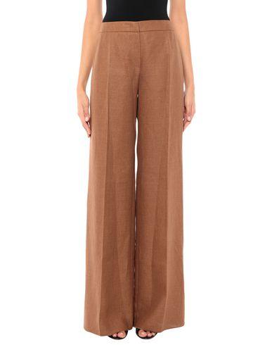 MAX MARA   Коричневый Женские коричневые повседневные брюки MAX MARA плотная ткань   Clouty