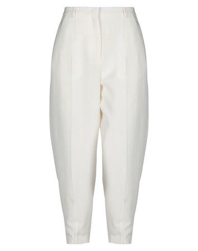 JIL SANDER | Слоновая кость Женские повседневные брюки JIL SANDER плотная ткань | Clouty